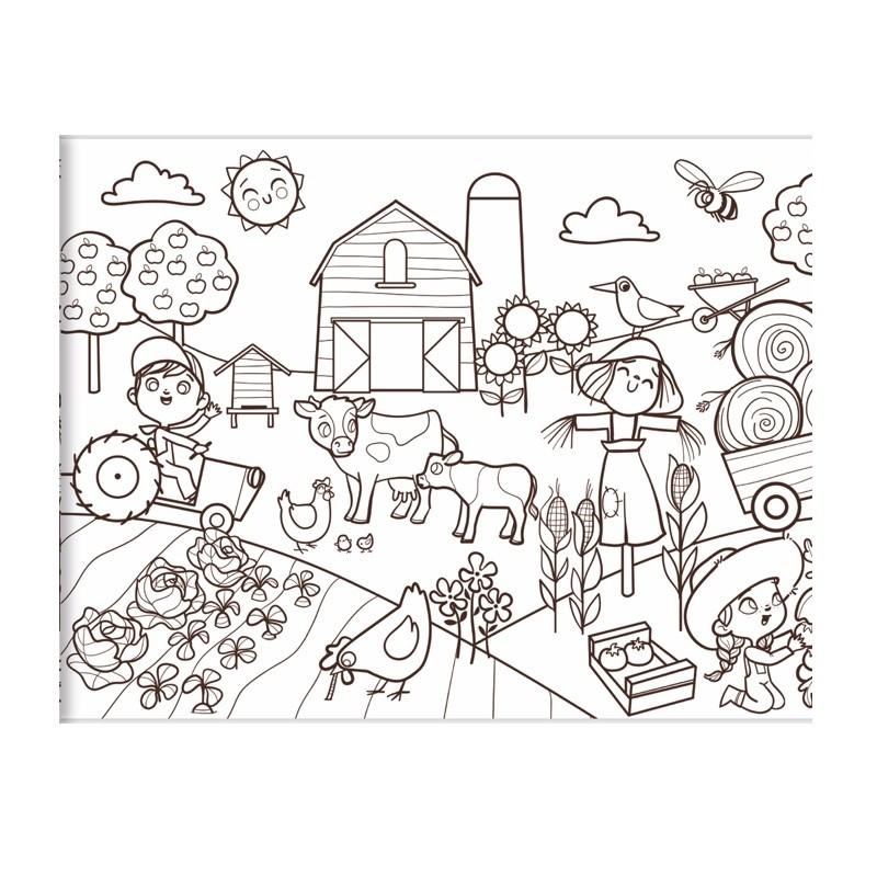 graffy roll kleurplaat op rol de kleine boerderij